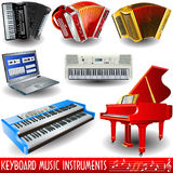 Keyboard music instruments vector illustration