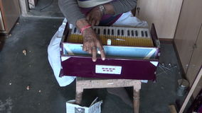 Keyboard musical instrument repair work in shop, Jaipur, India Royalty Free Stock Photos