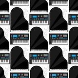 Keyboard musical instruments vector classical piano melody studio acoustic shiny musician equipment electronic sound. Keyboard musical instruments vector stock illustration