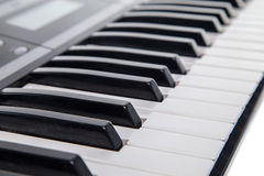 Keyboard of musical synth Royalty Free Stock Photos