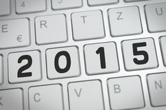 2015 on a keyboard Royalty Free Stock Photos