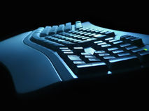 Keyboard night view. Keyboard view at night Royalty Free Stock Image