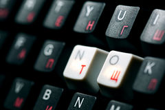 Keyboard no  key Royalty Free Stock Photos