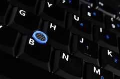Keyboard of notebook Stock Photo