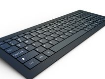 Keyboard of a notebook computer Royalty Free Stock Photo