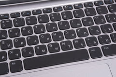 Keyboard of notebook Royalty Free Stock Photo