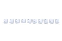 Keyboard number series Stock Photography
