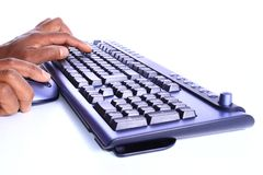 Keyboard in office Stock Photos