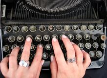 Keyboard old Royalty Free Stock Images
