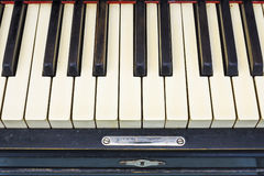 keyboard of old black piano Stock Images