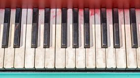 Keyboard of old black piano Royalty Free Stock Photos