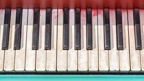 Keyboard of old black piano Royalty Free Stock Photos