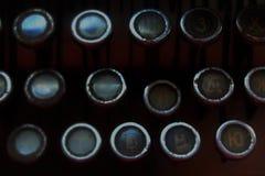 Keyboard of Old Typewriter Royalty Free Stock Photos