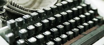Keyboard of the old typewriter Royalty Free Stock Images