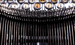 Keyboard old typewriter and the small details Royalty Free Stock Photography
