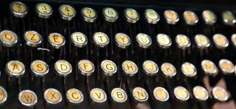 Keyboard of an old typewriter Stock Photo