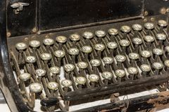 Keyboard old  typewriter. Royalty Free Stock Images