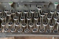 Keyboard of old typewriting machine Royalty Free Stock Photo