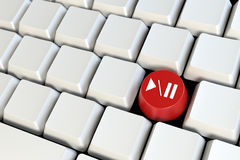 Keyboard with one Stock Photography