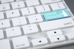 Keyboard online training Royalty Free Stock Images