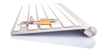 Keyboard and Padlock V Stock Photo