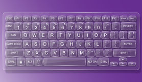 Keyboard pc mac glass with shadow Stock Photo