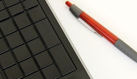 Keyboard and pen Stock Photography