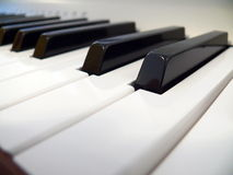 Keyboard of piano Stock Photos