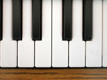 Keyboard of piano. The keyboard of a piano Royalty Free Stock Images