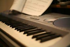 Keyboard piano stock image