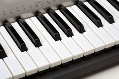 Keyboard of the piano close ap Royalty Free Stock Photo