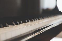 Keyboard piano. Close up of keyboard piano Stock Image