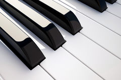 Keyboard piano detail Stock Photo