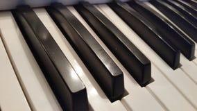 Keyboard piano keys close up. Black and White piano keys Royalty Free Stock Image