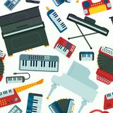 Keyboard piano music vector instruments musician equipment  Royalty Free Stock Image