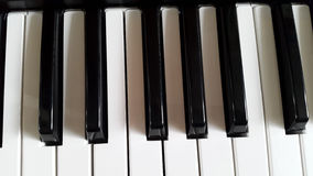 Keyboard of the piano - white and black keys Stock Image