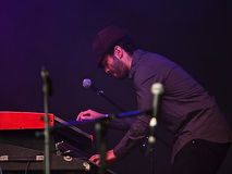 Keyboard player Royalty Free Stock Photography