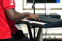 Keyboard player Royalty Free Stock Image