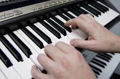The Keyboard Player Royalty Free Stock Photo