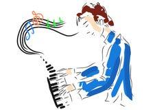 Keyboard player royalty free illustration
