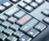 Keyboard with POOO Button stock photos