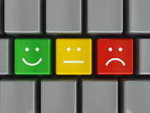 Keyboard positive, neutral and negative Stock Photos