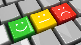 Keyboard positive, neutral and negative isometry Stock Images