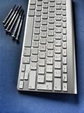 Keyboard and precision screwdrivers Stock Images