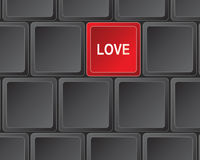 Keyboard press for love Stock Photography