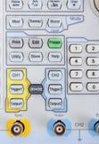 Keyboard of professional modern test equipment - analyzer Stock Photos