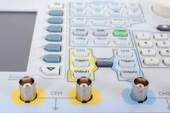 Keyboard of professional modern test equipment - analyzer Royalty Free Stock Photography