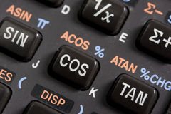 Keyboard of programmable scientific calculator Royalty Free Stock Photos