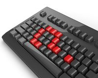 Keyboard question Royalty Free Stock Image