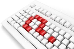 Keyboard question Stock Photo